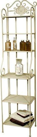 wrought iron bathroom shelf. Cream Wrought Iron Metal Bathroom Storage Shelves Shelf Unit