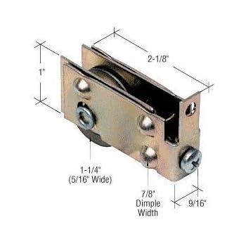 """D1767 CRL 1-1//2/"""" Steel Sliding Glass Door Roller With 3//4/"""" Wide Housing"""