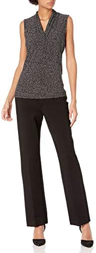 Anne Klein Women's Print Triple Pleat Top