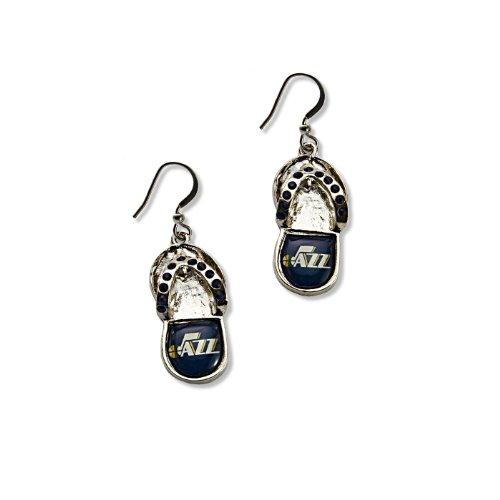 NBA Utah Jazz Crystal Flip Flop Earrings (Utah Jazz Jewelry)