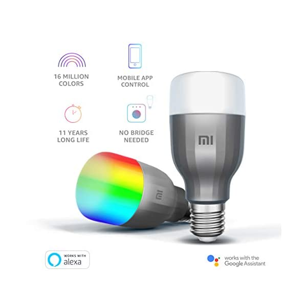 Mi LED Wi-Fi 10W Smart Bulb Compatible with Google Assistant