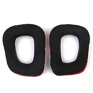Almohadillas de repuesto para auriculares G35 G930 G430 F450 auriculares rojo y negro