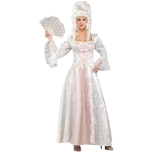 Pink Lace Marie Antoinette Costumes (Forum Novelties Women's Designer Collection Marie Antoinette Costume, Pink/White, Large)