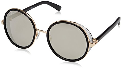 Jimmy Choo Women's Andie/S Rose Gold Shinny Black/Gray  Silver - Choo Sunglasses Women Jimmy