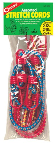 Coghlan's Assorted Stretch Cords, 6 Pack