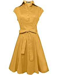 Anni Coco® Women's 1950s Cap Sleeve Swing Vintage Party...