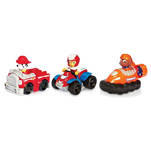 Paw Patrol Racers 3-Pack Vehicle Set, Ryder, Zuma, Marshall -