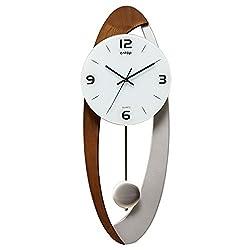 CLOCKZHJI Pendulum Wall Clock Silent Non Ticking Clocks and Clocks Living Room Clock Modern European Style Wall Clock Art Pendulum Clock Simple Fashion Personality Mute Clock (Color : #2)