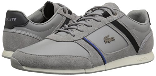 Lacoste Men's Menerva Sneakers,Grey/Black Suede,11 M US