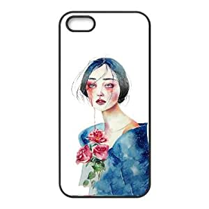iPhone 4 4s Cell Phone Case Black Woman are made of water Ecpyi