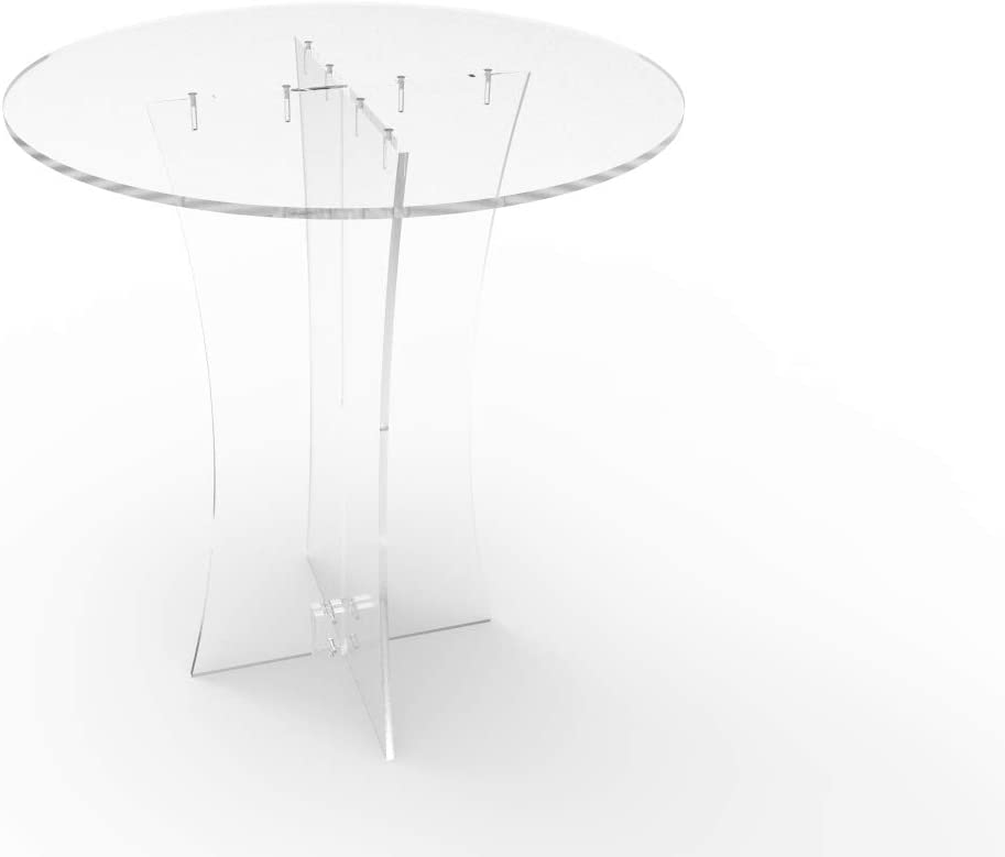 FixtureDisplays Clear Acrylic Table, Breakfast Table, Tradeshow Desk 10033