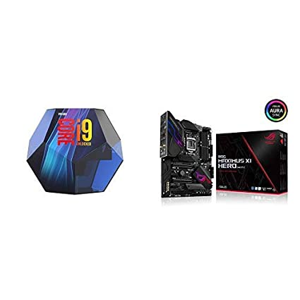 Intel Core i9-9900K Desktop Processor 8 Cores up to 5 0 GHz Turbo Unlocked  with ROG Maximus XI Hero Z390 Gaming Motherboard LGA1151 HDMI M 2 USB 3 1