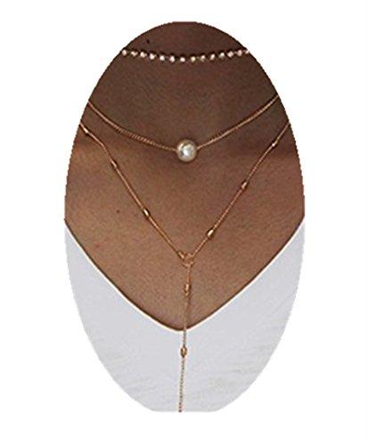 Triple Triangle Gold Pendant Choker Necklace - 6