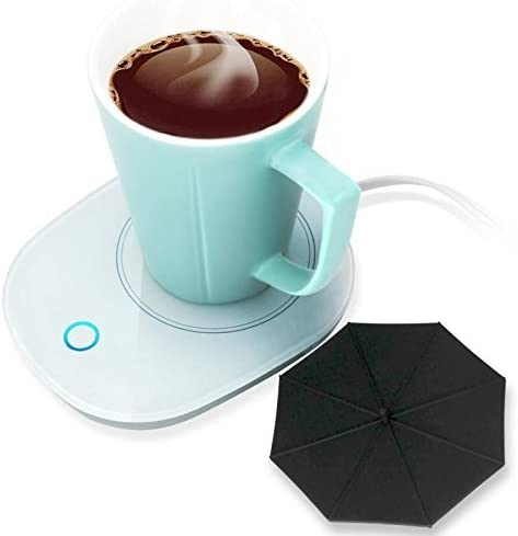 Mug Warmer Coffee Warmer with Automatic Shut Off to Keep Temperature Up to 131 55 with a Silicone Mug Cover Safely Use for Office Home to Warm Coffee Tea Milk Candle Heating Wax