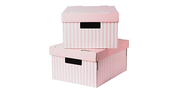 28 x 37 x 18 cm PINGLA , 2 unidades rosa caja de almacenaje con tapa: Amazon.es: Bricolaje y herramientas