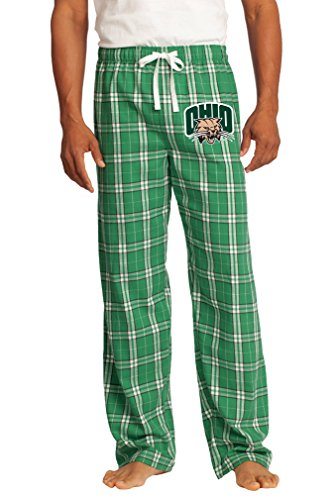 Broad Bay Ohio University Pajamas Bottoms Official Ohio Bobcats Lounge Pants Lg