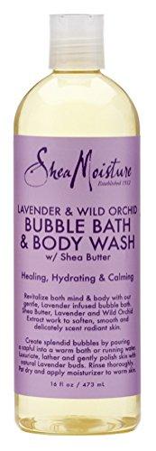 Shea Moisture Bubble Bath & Body Wash 16 Ounce Lavender & Wi