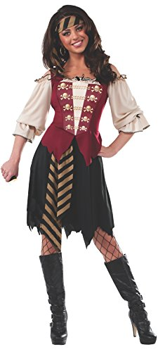 Rubie's Costume Women's Elegant Pirate Adult Costume, Multi, Standard (Pirate And Wench)