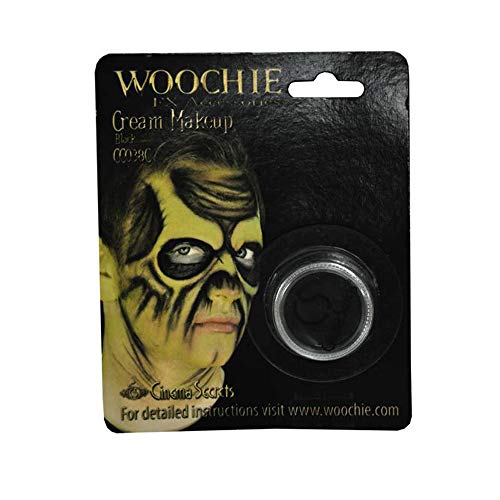 Woochie Cream Makeup - Professional Quality Halloween and Costume Makeup - Black for $<!--$3.54-->