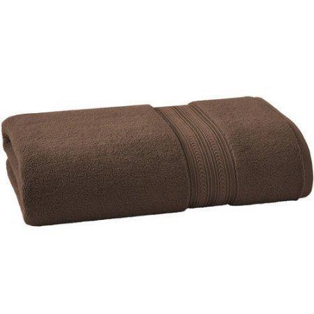 BHG THICK AND PLUSH SOLID BATH SHEET | SUPER SOFT COTTON (Bath Sheet, BROWN)