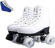 Women's Classic Roller Skates, High-top Roller Skates Four-Wheel Roller Skates, Premium PU Leather Rink Sk