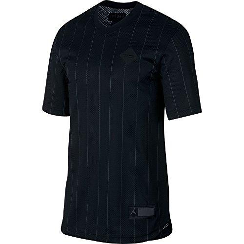 Jordan Air Retro 9 Men's Sportswear Jersey Shirt Black/Grey ah9909-010 (Size - Authentic Jordan Michael Jersey