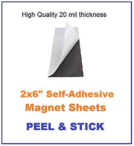 Eventprinters - Photo Magnets for 2x6 Photo Strips with self-Adhesive (Pack of 100). Peel & Stick. Flexible Magnetic Sheets. Great for Photo Booth Business.