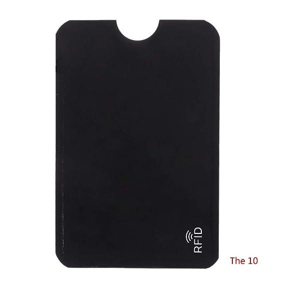 Baiyao 10PCS RFID Monedero Mágico Titular De La Tarjeta De Crédito Tarjetas Clip De Dinero Flexible Carteras Deel Plastico: Amazon.es: Ropa y accesorios