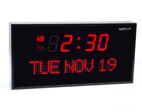 Ivation Oversized Digital Calendar Clock
