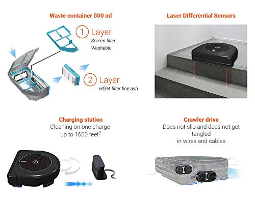 HOBOT LEGEE-668 Vacuum-Mop 4 in 1 Robot for Floor, Automatic Robot for Wet or Dry Floor Cleaning