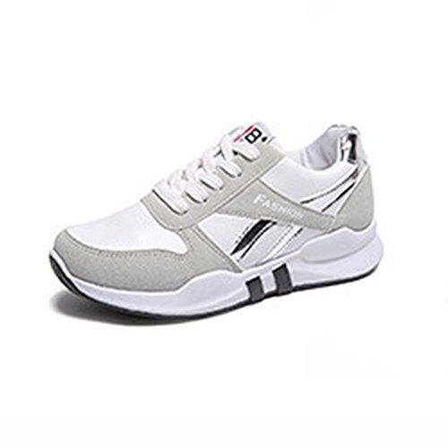 Shoes LVZAIXI Zapatos Zapatillas De Deporte Versión Coreana Grueso Abajo Estudiante Zapatos Transpirables Acogedor (Color : Blanco, Tamaño : EU37/UK4.5-5/CN37) Blanco