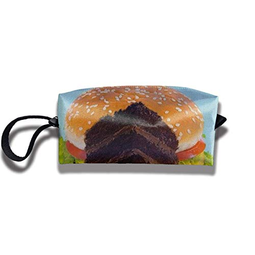 XYDQ Hamburgers Portable Waterproof Thick Organizer Storage Bag,Travelling Bag,College Carrying Bag,Camping Bag for Christmas,Festival Decorations,Washable