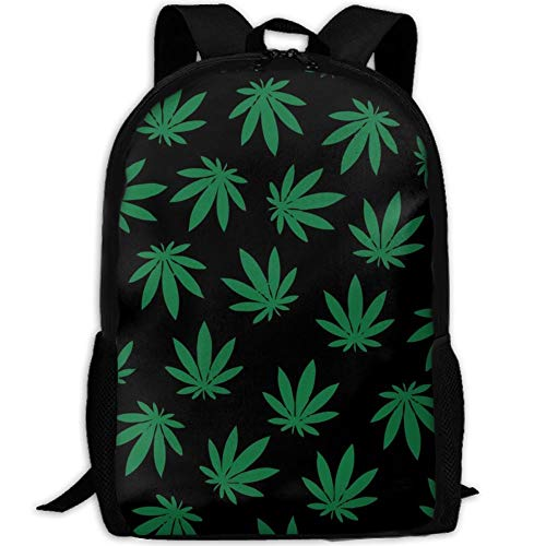 Travel Backpack Laptop Backpack Large Diaper Bag - Weed Pattern Backpack School Backpack For Women Men by SAPLA