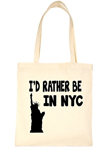 Shopping Print4u Natural New For I'd In York Rather Bag Life Be Tote T7xd6rT