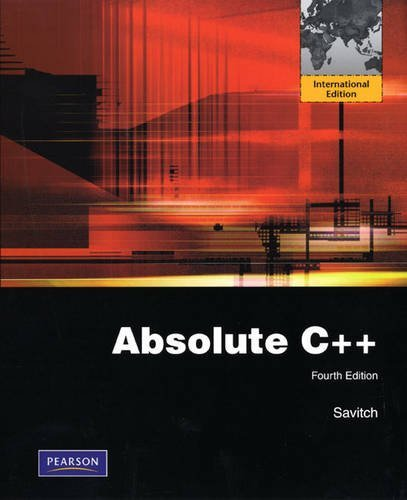 Absolute C++ by Walter J. Savitch (2009-03-11)