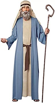 thematys® Disfraz de Jesus Pastor de ovejas para Hombre Cosplay, Carnaval y Halloween - Talla única 160-180cm