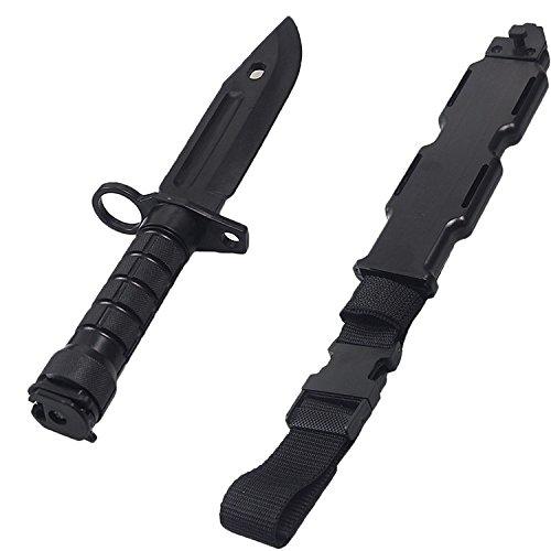 Cuchillo de entrenamiento de Wwman Negro Artes marciales modelo de cuchillo suave CS armas de plástico táctico cuchillo de plástico (BK-01): Amazon.es: ...