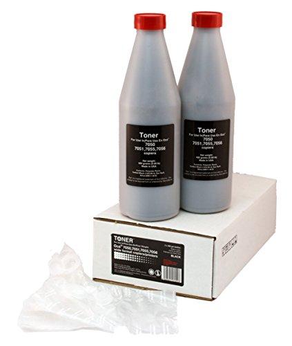 Oce 7050, 7051, 7055, 7056 (B1), Toner, Black (2 Bottles + 2 Waste Bags)