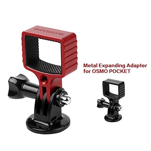 DishyKooker Aluminum Alloy 1/4 Adapter Extension Kit Mount Stand for D-J-I OSMO Pocket Gimbal G'oPro Camera (Red)