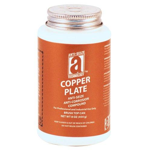 COPPER PLATE 21010 Anti-Seize Compound without Graphite or Aluminum in a Non Melting Carrier, 8 oz., Copper, Paste (Copper Base Anti Seize)