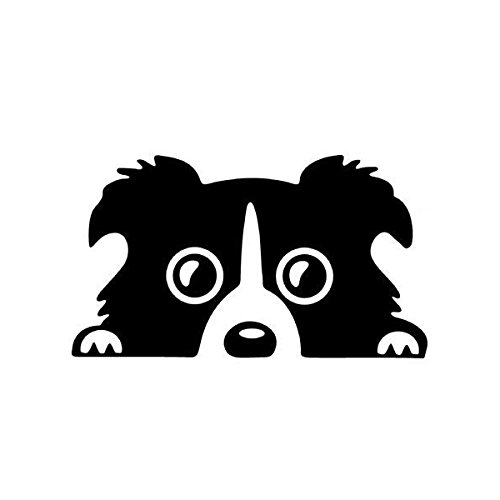- Exterior Accessories - Border Collie Sticker Auto Decal Accessories Black - 14x8cm Car Lovely Pet Dog Sticker Funny Decal Auto Bumper Window Body Decal - Car Stickers And Decals Pets - 1PCs