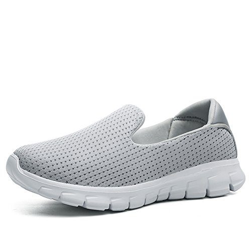 Women's Casual Fashion Slip-On Mesh Breathable Athletic Sport Running Shoes 3908 Gray ySZMZGO0