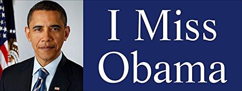 GHaynes Distributing I MISS OBAMA Sticker Decal(barack president anti trump) 3 x 8 inch Anti Barack Obama Stickers