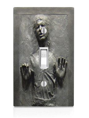 Cool Carbonite Print Light Switch Plate