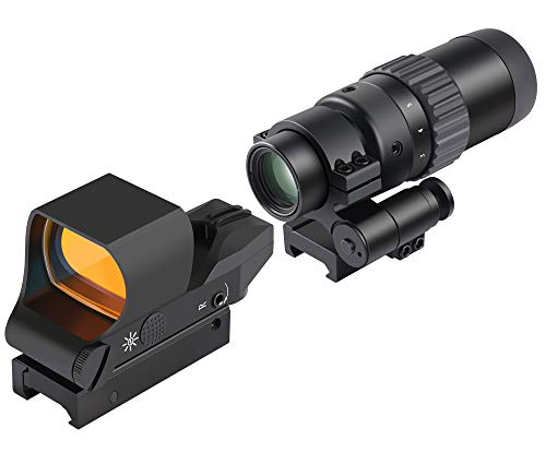 Feyachi RS-30 Reflex Sight with M36 1.5X – 5X Red Dot Sight Optics Magnifier