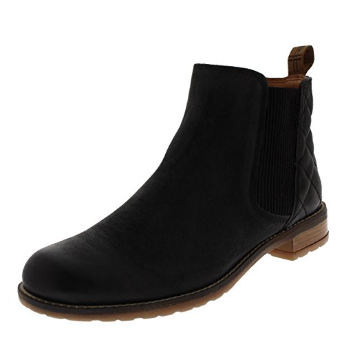 Womens Barbour Abigail Casual Leather Smart Winter Ankle Heeled Boots Black