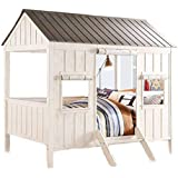 Major-Q 37655F Spring Cottage Full Sized Bed (Weathered White and Washed Grey)