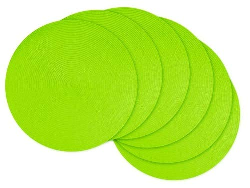 (DII, Classic Round Placemats, Woven, Set of 6, 15