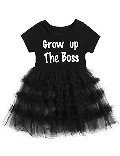 (Happy Mother's Day Little Kid Girl Dresses Funny Letter Printed T-Shirt Top with Tutu Skirt Summer Outfits Set)