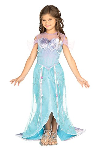 [Let's Pretend Child's Deluxe Mermaid Costume, Small] (Plus Size Adult Halloween Costumes Ideas)